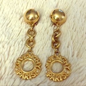 SOLD on E 💜 Givenchy Paris vintage drop earrings